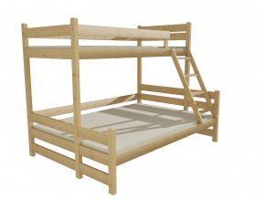 Patrová postel s rozšířeným spodním lůžkem PPS 004