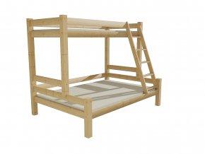 Patrová postel s rozšířeným spodním lůžkem 8X8 6A