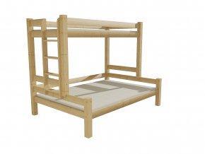 Patrová postel s rozšířeným spodním lůžkem 8X8 6B