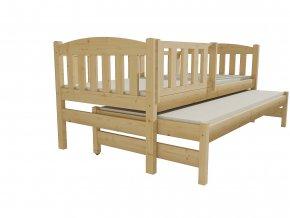 Dětská postel s výsuvnou přistýlkou DPV 013