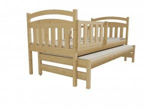 Dětská postel s výsuvnou přistýlkou DPV 020
