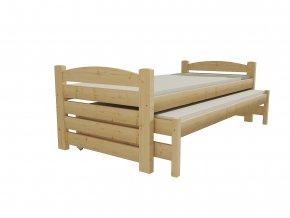 Dětská postel s výsuvnou přistýlkou DPV 026