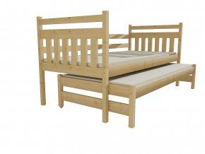 Dětská postel s výsuvnou přistýlkou DPV 029