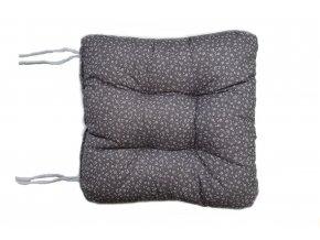 sedák na židli kvítek šedý