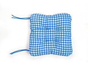sedák na židli kostičky modré