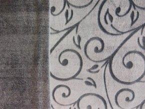 deka mikroflanel šedá ornament 1