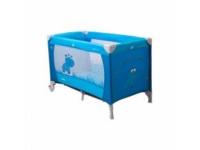 cestovní postýlka samba plus modrá