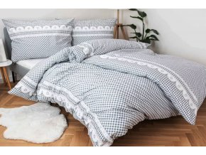 povlečení bavlna kanafas chalupářské šedé