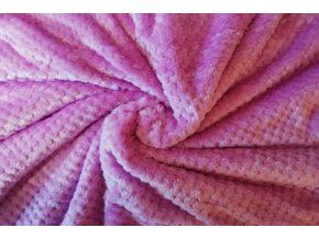 deka žakárová růžovo fialová