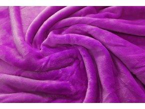deka mikroflanel fialovo růžová