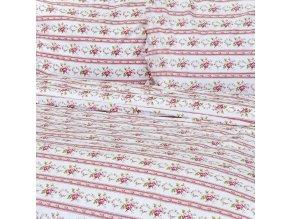bavlněné povlečení bavlna retro růžičky růžové stanex