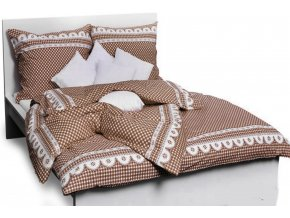 povlečení bavlna chalupářské kanafas hnědý