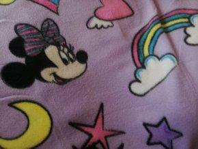 deka Minnie fialová