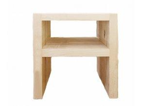 Noční stolek buk masiv 4cm - typ 2