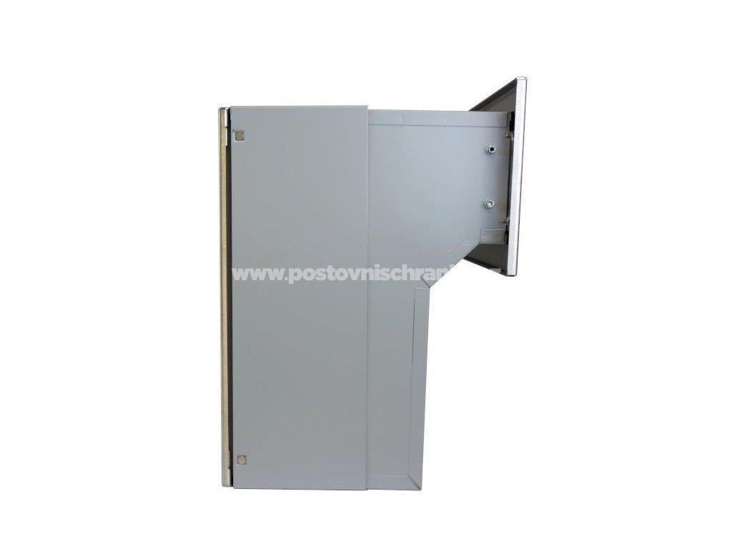 poštovní schránka F04 NEREZ (šíře 300 mm) do KB a FACE bloku - regulace hloubky 190-270 mm
