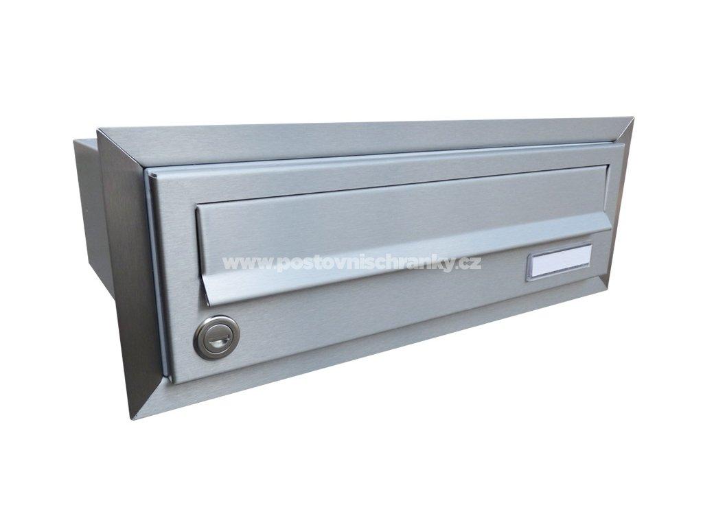 poštovní schránka B017 NEREZ - rovná - fixní hloubka 265 mm