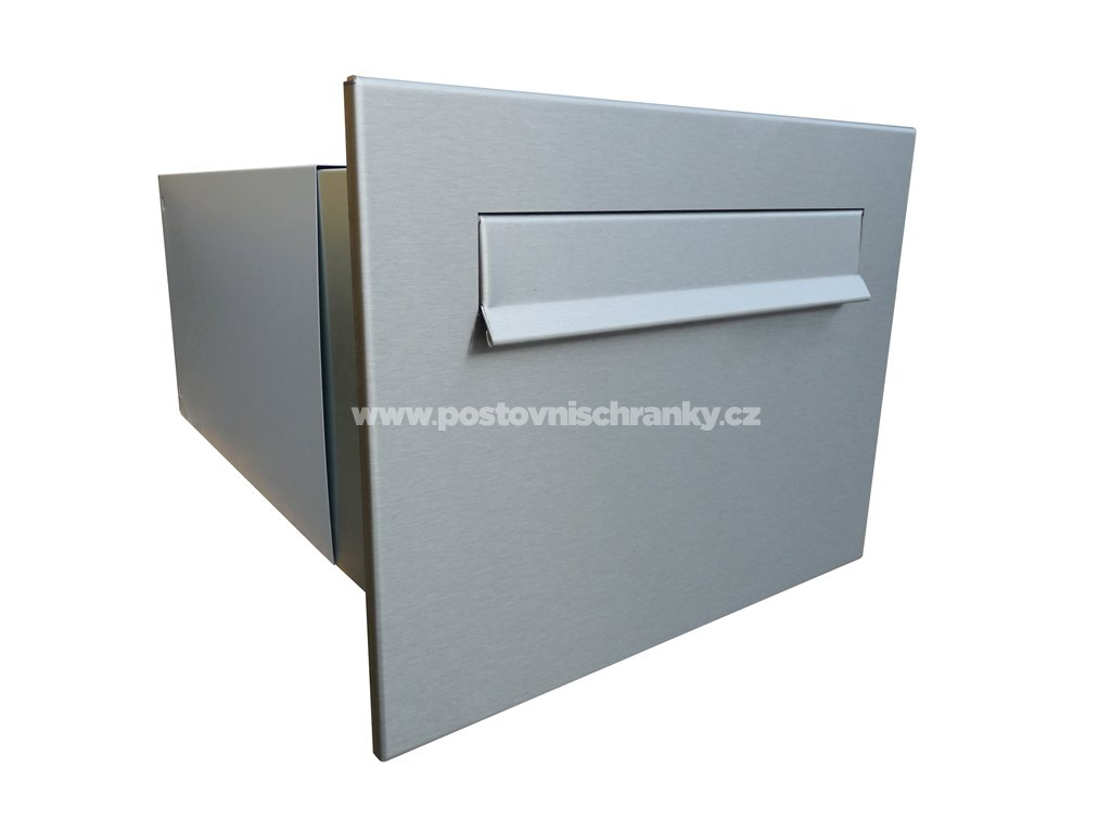 poštovní schránka B242 NEREZ -rovná - regulace hloubky 390-620 mm mm