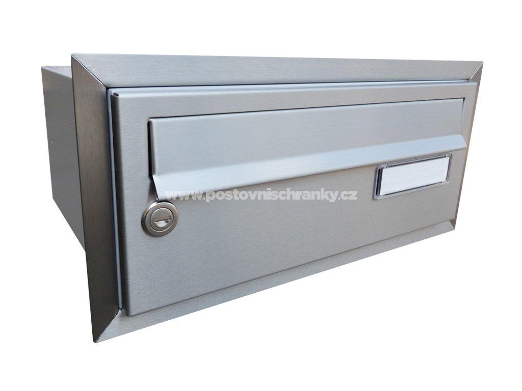 poštovní schránka B015 NEREZ - rovná - fixní hloubka 265 mm