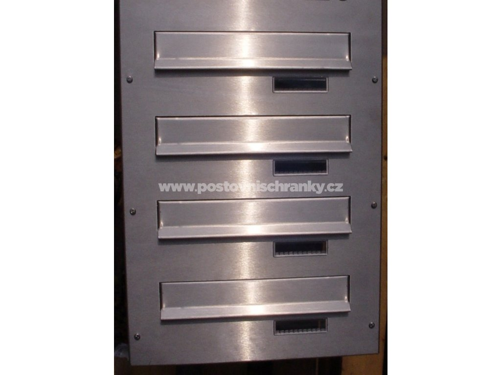 poštovní schránka 4 x B042 NEREZ - regulace hloubky 390-620 m