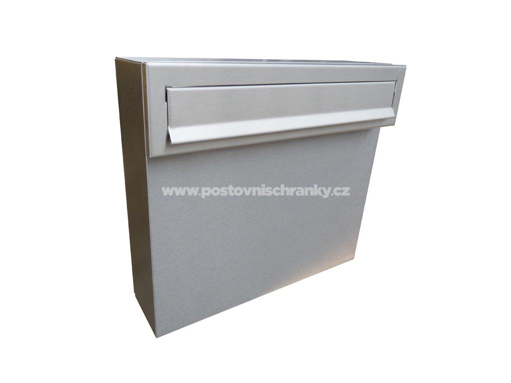 poštovní schránka A050 NEREZ - KOMPLET (sestava tělo + čelo)