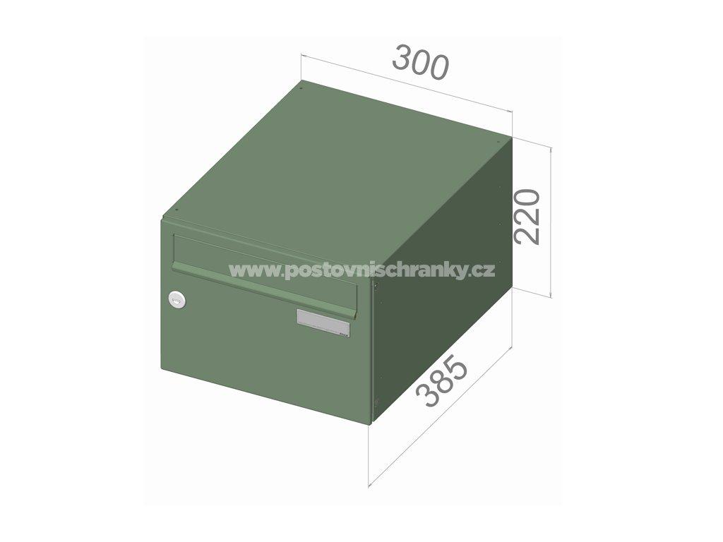 typ B21 RAL + lem - 300x220x385 (ležatý model) přední vhoz-přední výběr