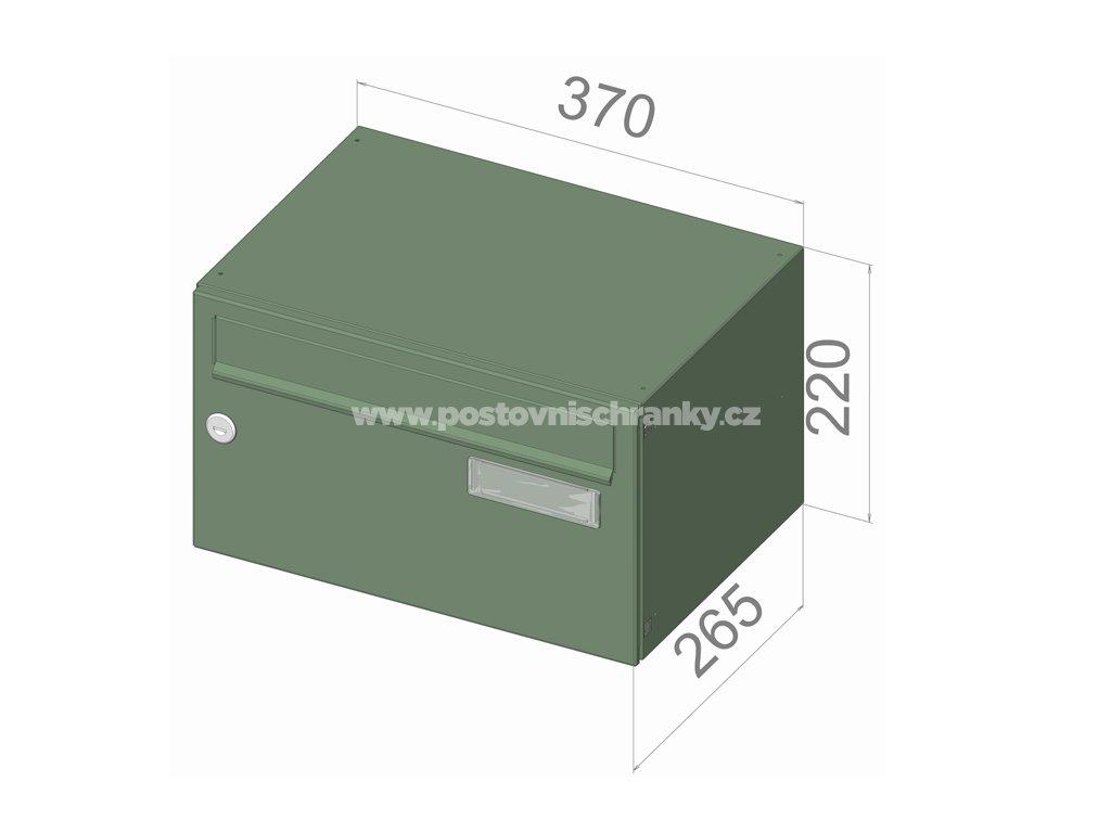 typ B217 NEREZ + lem - 370x220x265 (ležatý model) přední vhoz-přední výběr