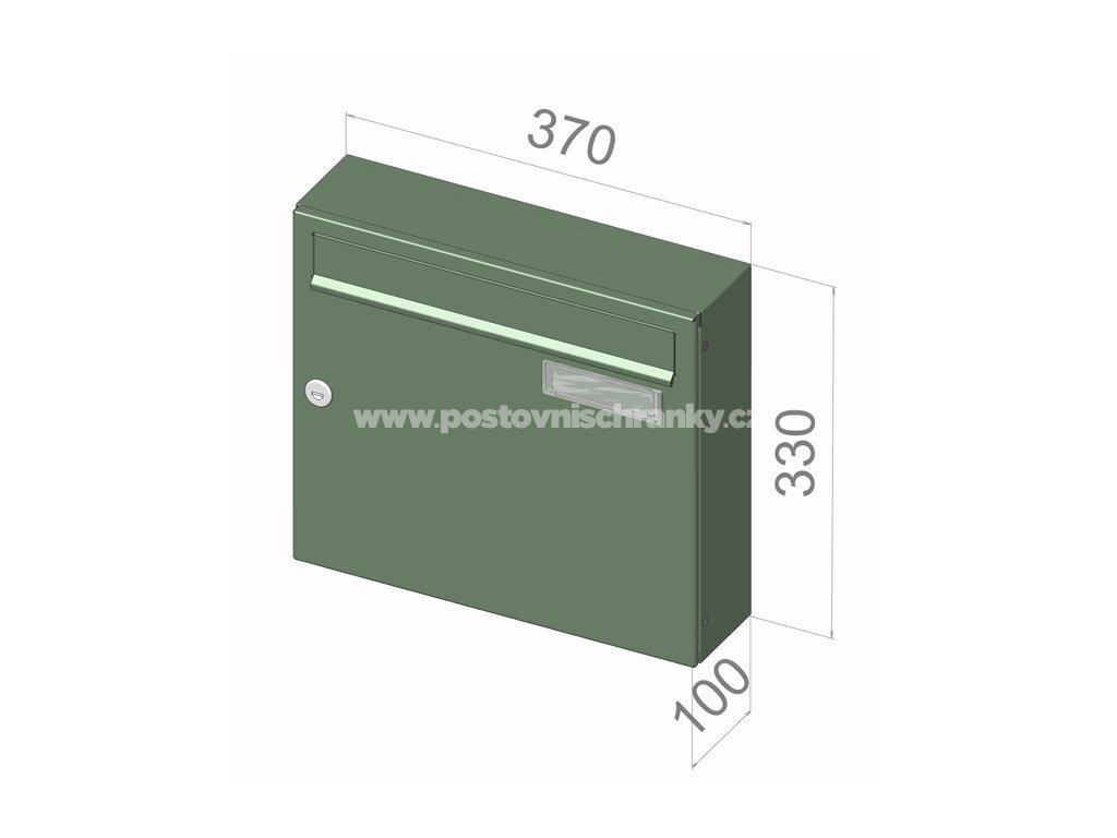 typ A01 NEREZ + lem - 370x330x100 (nástěnný model) přední vhoz-přední výběr