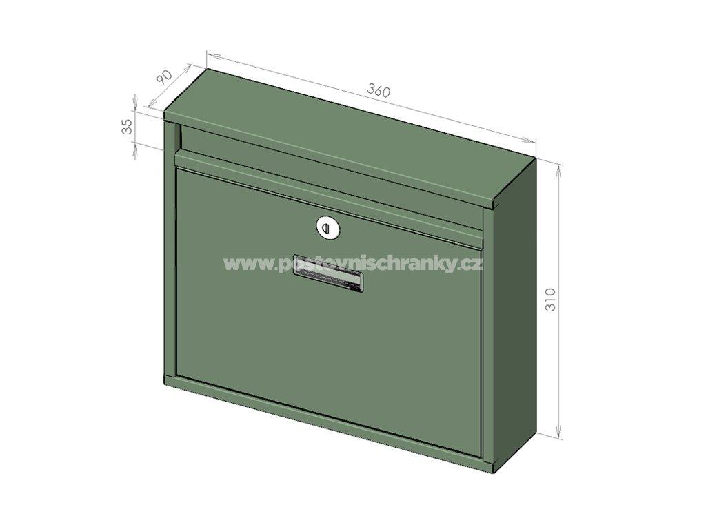 H012 BASIC RAL - 360 x 310 x 90 (nástěnný model)