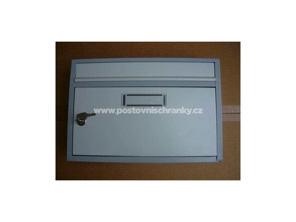 G01- poštovní schránka  385 x 260 x 80- RAL 7035 + 7040