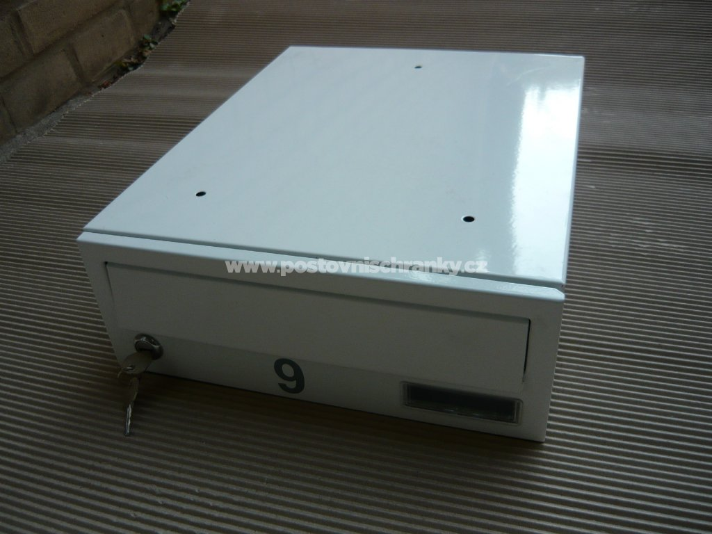 poštovní schránka č 9 -LAKOVANÁ - ležatá-300x110x390 (přední vhoz-přední výběr)