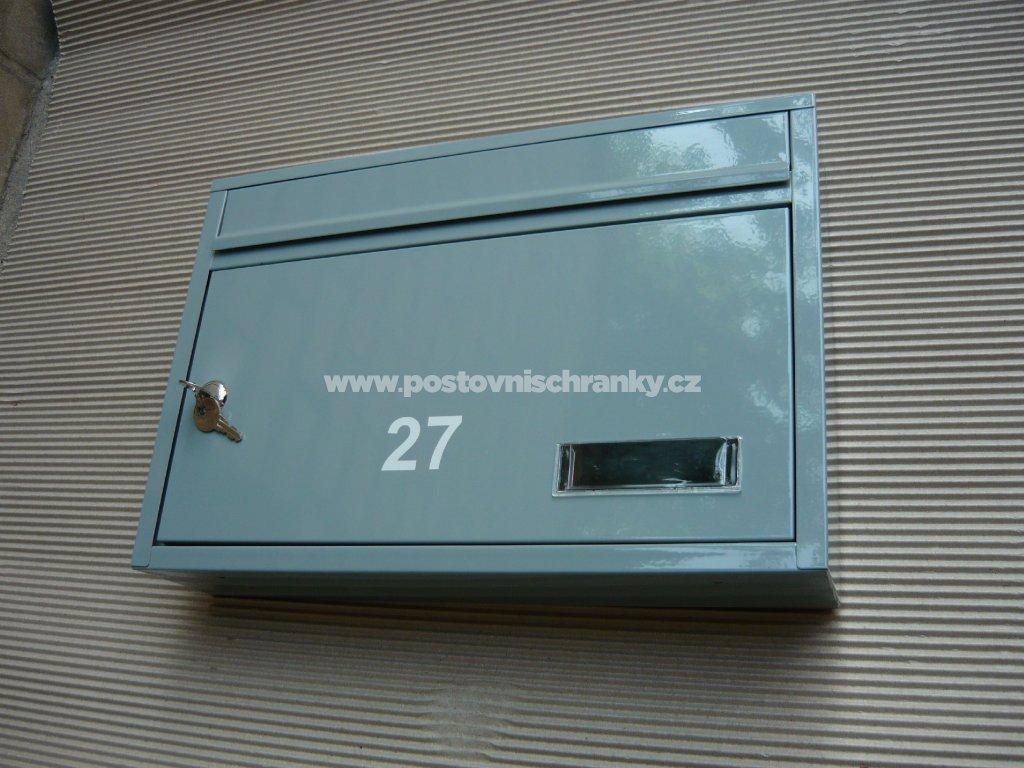 poštovní schránka č 27 RAL 7040 šedá