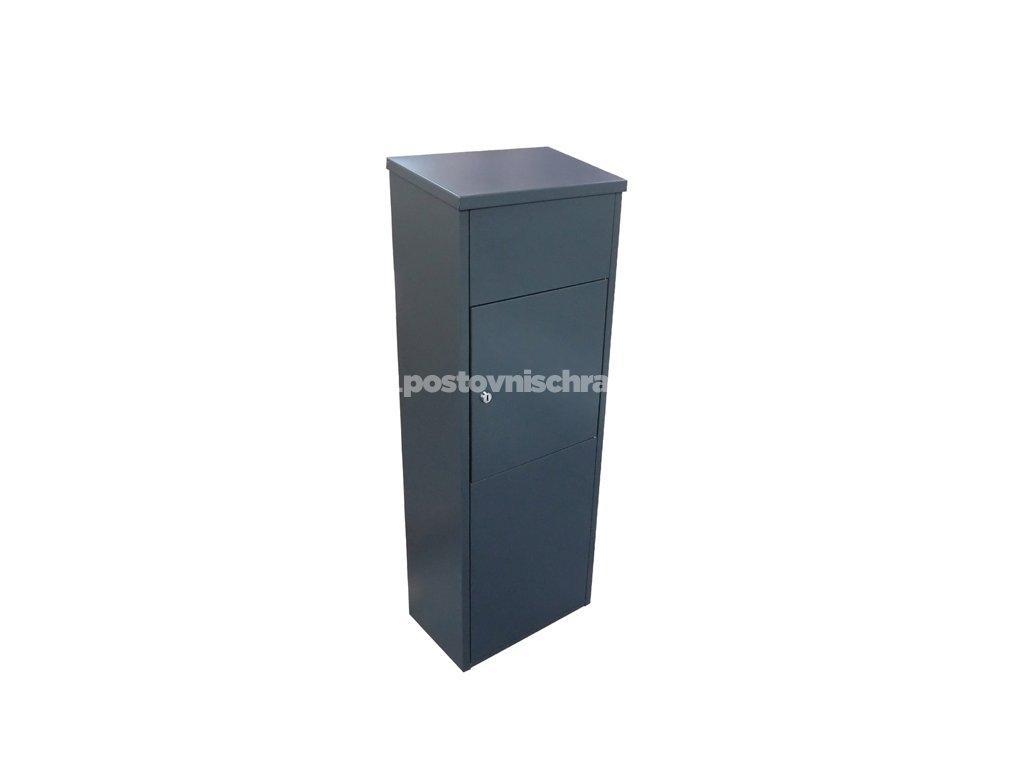 Schránka na poštu + balíky - parcel box - RAL 7016 antracit