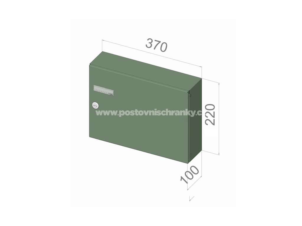 3652 postovni schranka a 042 pro zazdeni standardni ral