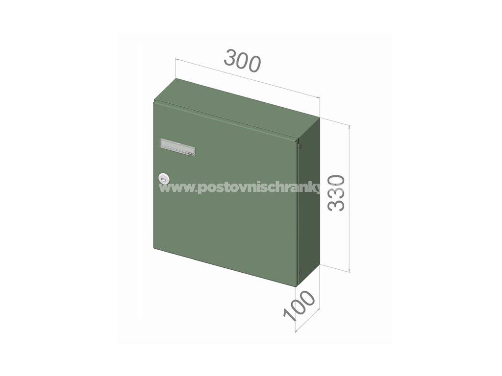 4045 postovni schranka a 043 pro zazdeni standardni ral