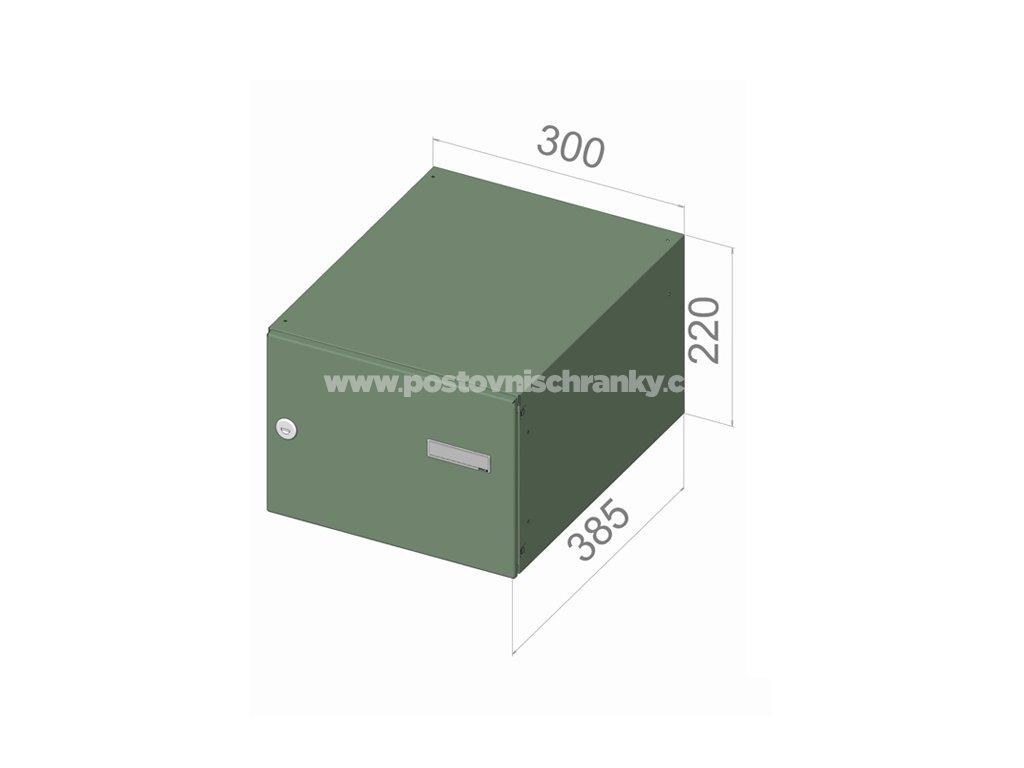 5315 postovni schranka b 24 pro zazdeni standardni ral