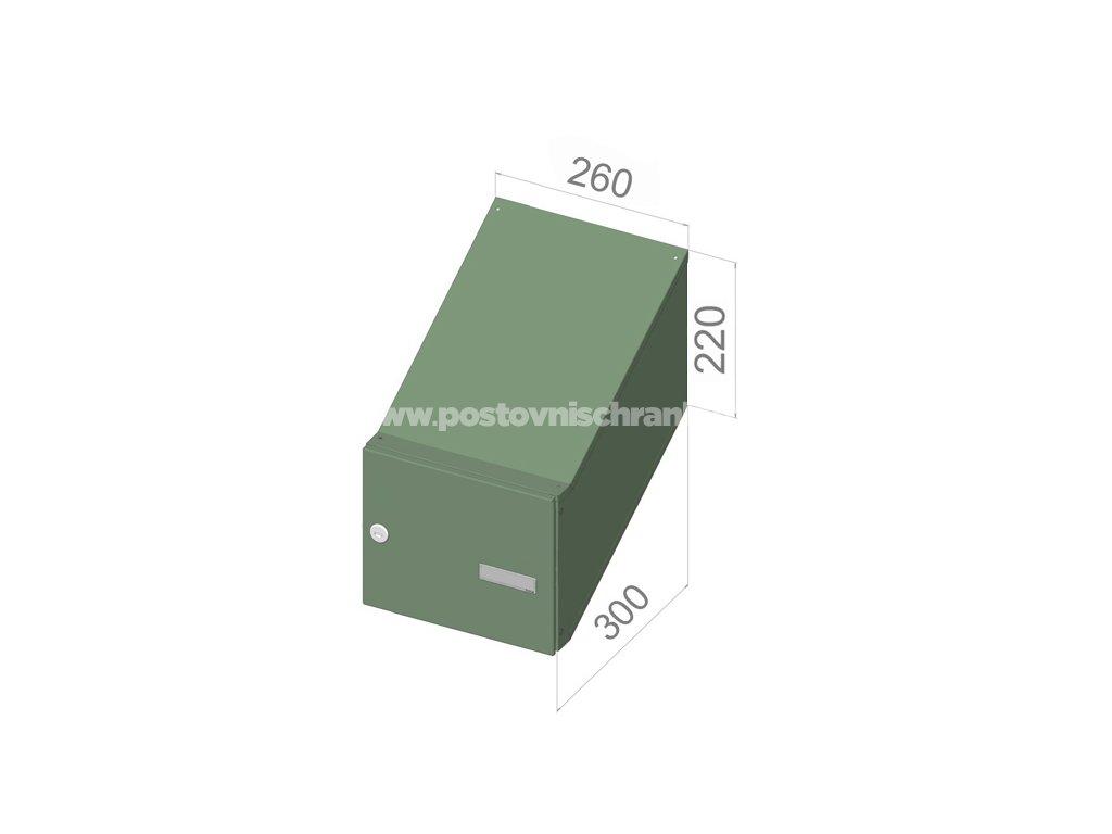 3002 postovni schranka d 246 pro zazdeni standardni ral