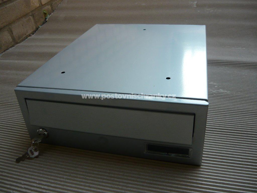 poštovní schránka č 3-LAKOVANÁ - ležatá-300x110x390 (přední vhoz-zadní výběr)