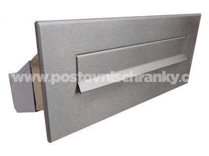 poštovní schránka D041 NEREZ - šikmá - regulace hloubky 230-380 mm