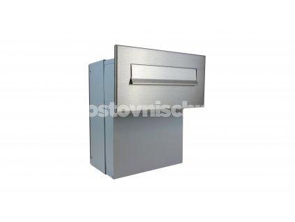 poštovní schránka F046 NEREZ - ZÚŽENÁ (šíře jen 260 mm) do KB a FACE bloku - regulace hloubky 190-250 mm