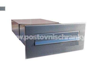 poštovní schránka B042 NEREZ - rovná - regulace hloubky 390-620 mm