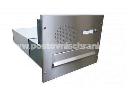 poštovní schránka B042 NEREZ ELEKTRO - rovná - regulace hloubky 390 -620 mm