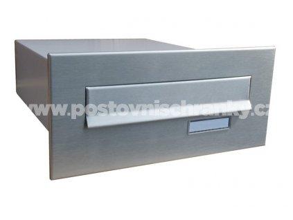 poštovní schránka B04 NEREZ - rovná - fixní hloubka 385mm - pro zazdění