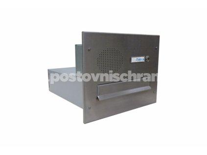 poštovní schránka B04 NEREZ ELEKTRO - rovná - fixní hloubka 385 mm