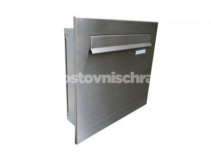 poštovní schránka A04 NEREZ (do plotového dílce s nerez čelní deskou)