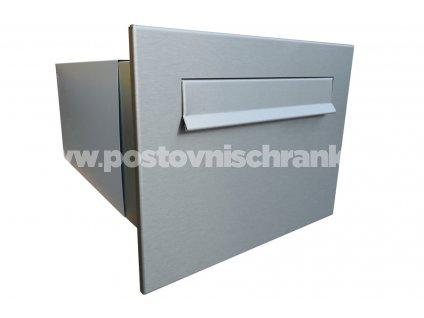 poštovní schránka B24 NEREZ - rovná - fixní hloubka 385 mm