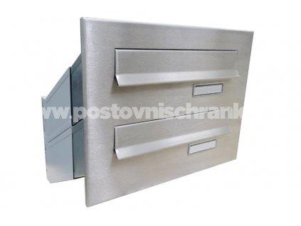 poštovní schránka 2 x D041 nebo D042 NEREZ - šikmá - regulace hloubky 230-480