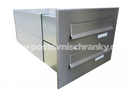 poštovní schránka 2 x B042 NEREZ - regulace hloubky 390-620 mm