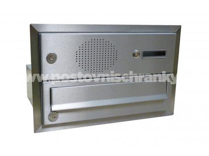 poštovní schránka B017 NEREZ ELEKTRO - rovná - fixní hloubka 265 mm -pro zazdění