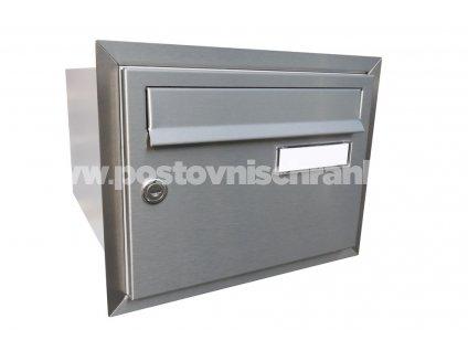 poštovní schránka B21 NEREZ - rovná - fixní hloubka 385