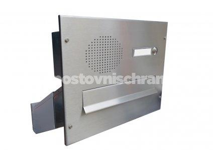 poštovní schránka D041 A D042 NEREZ ELEKTRO - šikmá -regulace hloubky 230-480 mm